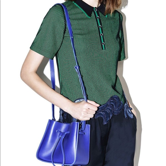 e098a06daca 3.1 Phillip Lim Soleil Mini Bucket Bag Blue NWT